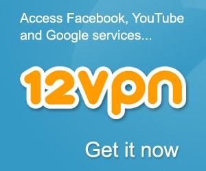Click to try 12VPN and don't forget the discount code below!