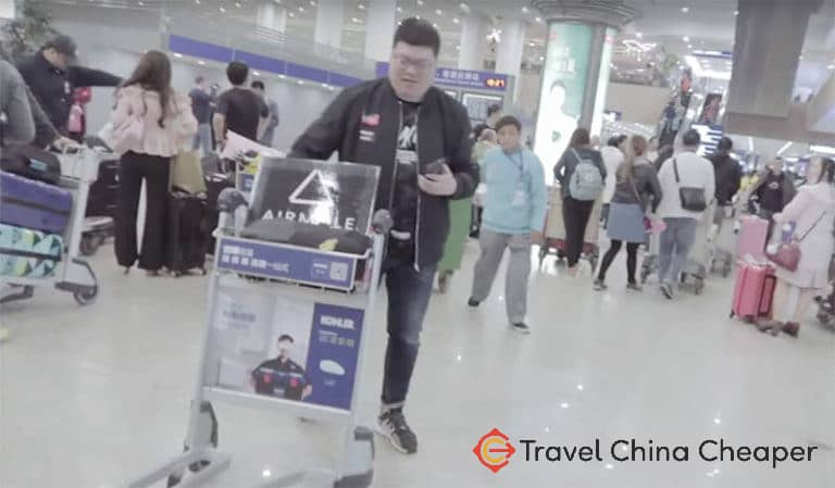The Airmuile representative who greeted me in Shanghai