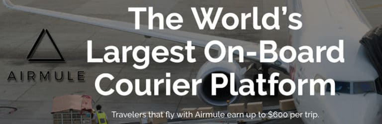 Use Airmule to offset your flight costs to/from China