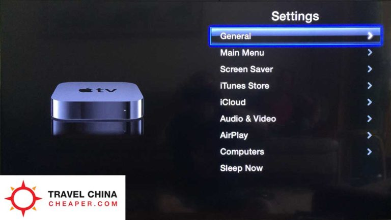 Apple TV General Settings