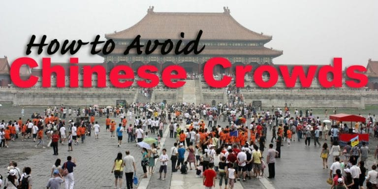 How to avoid the large Chinese tourist crowds
