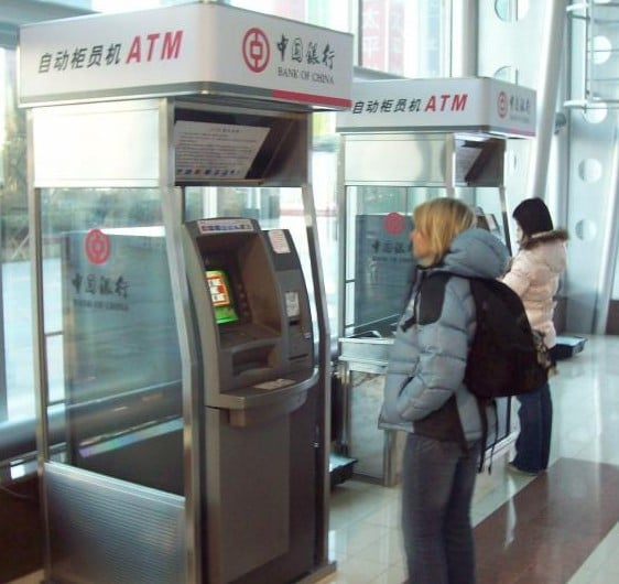 An ATM for the Bank of China