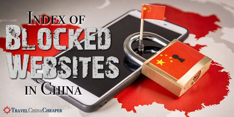 An index of blocked websites in China and blocked apps in China as of June 2019