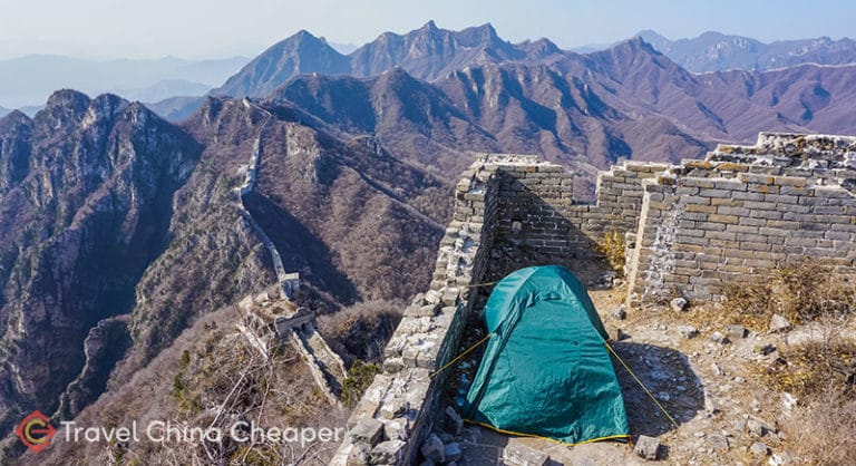 Tent camping on China's Great Wall