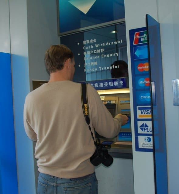 Using an ATM is a great way to get money in China