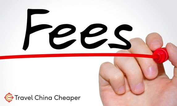 What are the rental fees to pay when renting in China?
