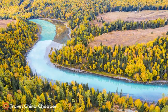 Beautiful fall colors in Xinjiang, China