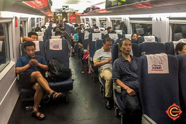 Inside China Train 2nd Class