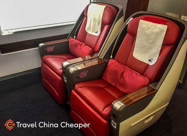 China's High speed train business class seats