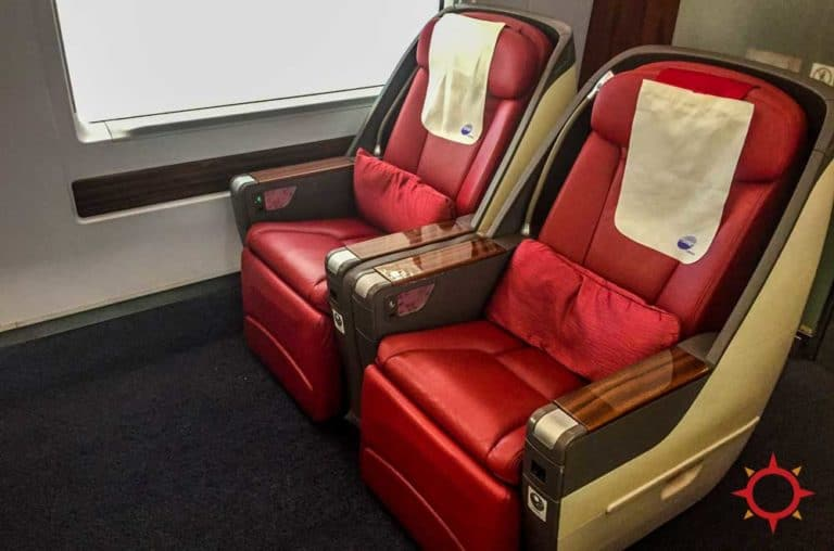 China's High speed train business class seats