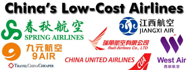 A look at all of China's Low-Cost Airlines