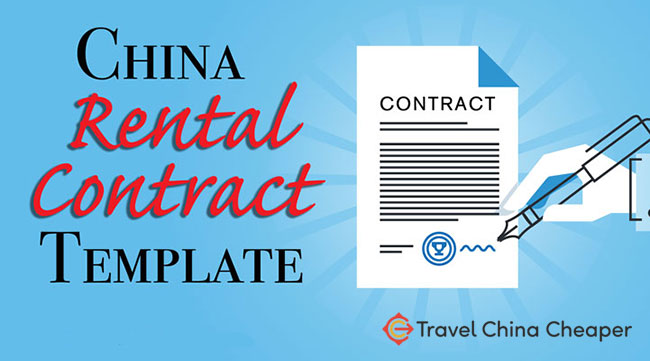 Chinese rental contract template plus Chinese-English bilingual contract
