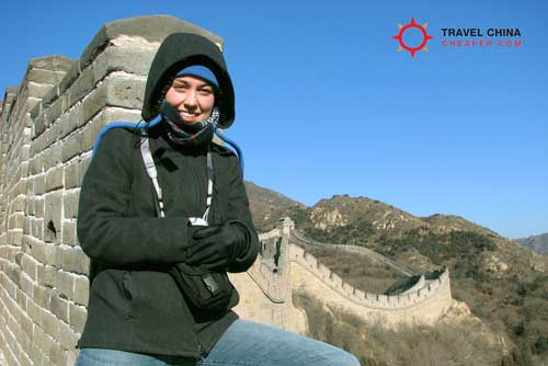 A China tourist on the Great Wall