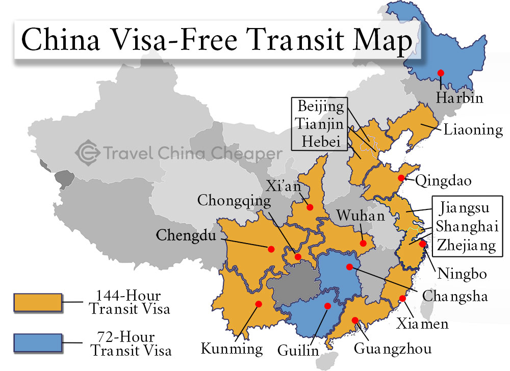 China Visa-Free Transit Guide 2019 | 72 & 144-hr Transit ...