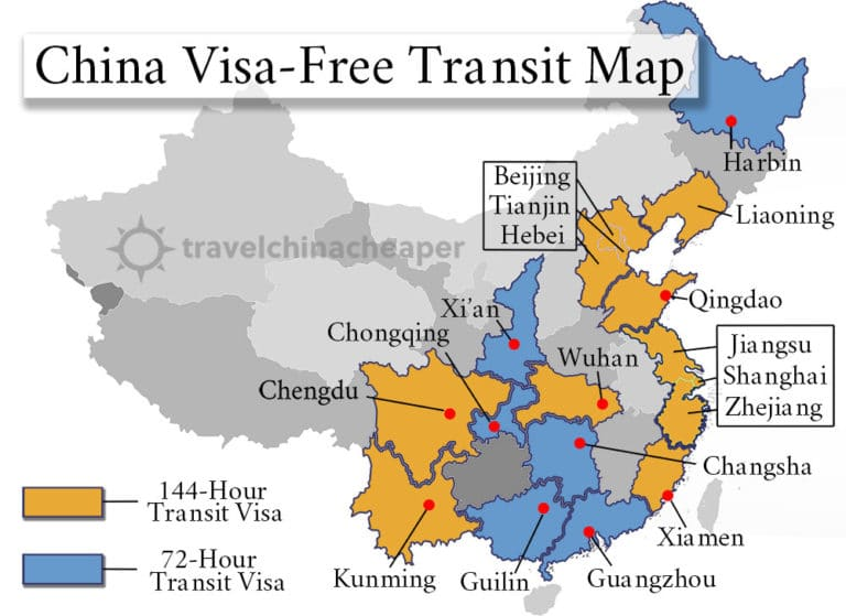 China Visa-Free Transit Guide 2019 | 72 & 144-hr Transit Visas