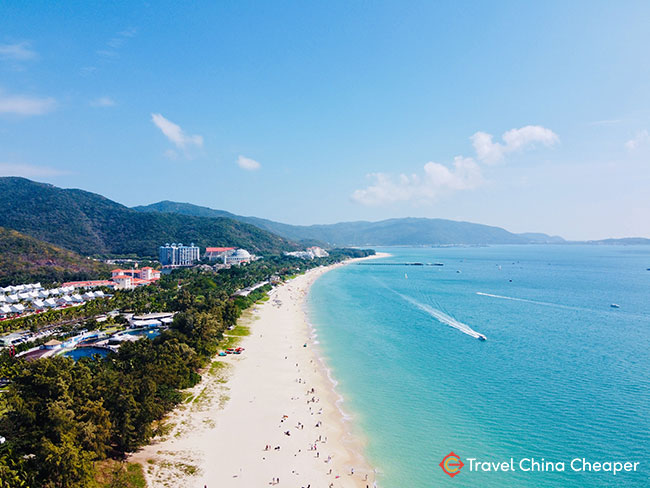 Yalong Bay in Sanya, China, also known as Luhuitou or 鹿回头