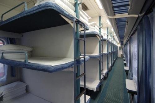 Hard sleeper beds on a China train