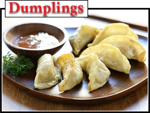 An example of Chinese dumplings