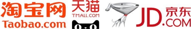 The most popular Chinese shopping portals: JD.com, Taobao and Tmall