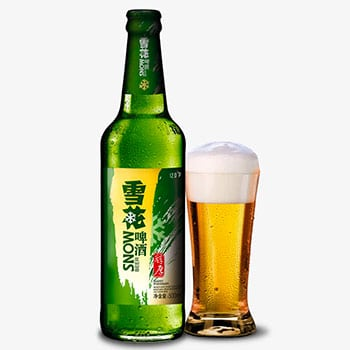 Snow beer, also known as 雪花啤酒, the top selling beer in the world.