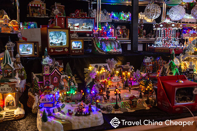 A store selling Christmas decorations in China