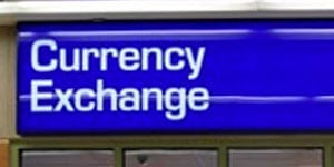 Exchange currency in China at airport kiosks or hotels
