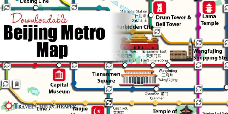 Free Downloadable Beijing Metro Map 2019 Tourist Destination Guide