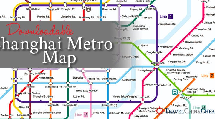 Printable Shanghai Subway Map.Transportation In China Guides Travel China Cheaper Archive