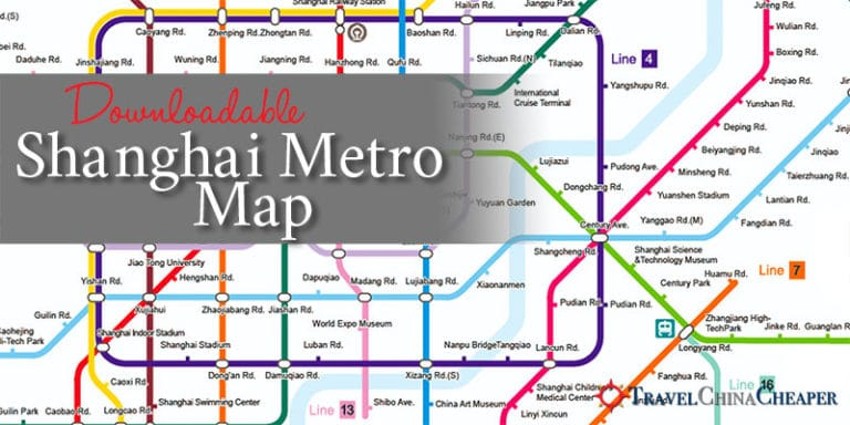 Free Downloadable Shanghai Metro Map 2018 Tourist Destination Guide