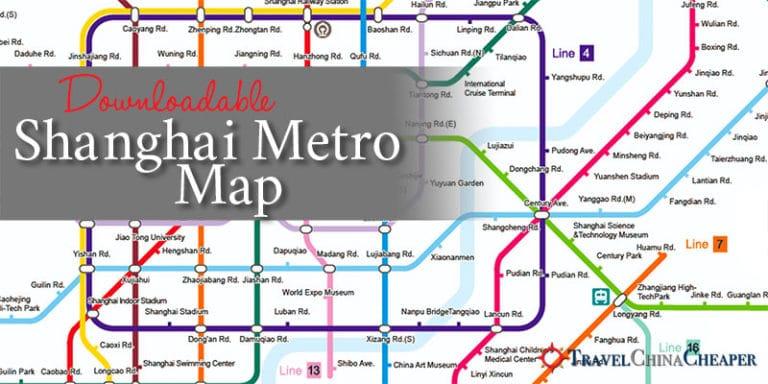 Downloadable Shanghai Metro Map (Subway map)
