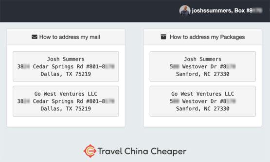 My Traveling Mailbox address