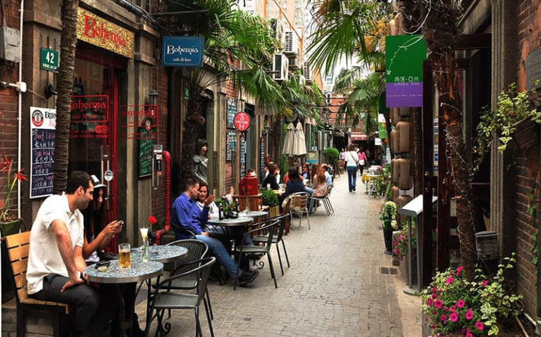 Relax in the beautiful French Concession, one of the great places to visit in Shanghai