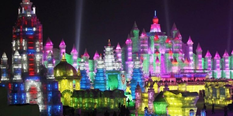 The Harbin Ice Festival in northern China