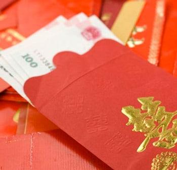 Give a Hong Bao as a gift to China