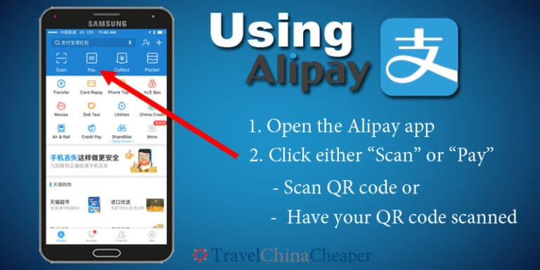 How to Pay using Alipay on your phone