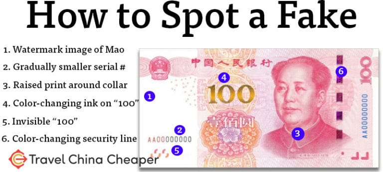 How to spot fake Chinese 100 yuan