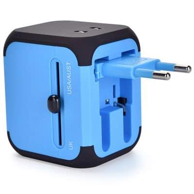 An international travel plug adapter