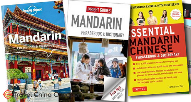 A selection of Mandarin Phrasebooks