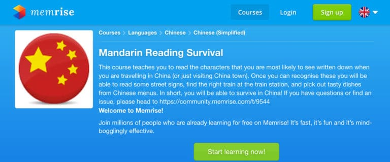 Use Memrise to learn Mandarin Chinese