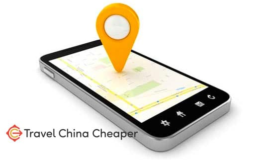 Use your smartphone in China as a map