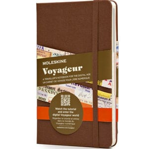 The Moleskine Voyageur, one of the best travel journals