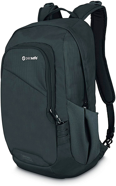 Pacsafe anti-theft backpack, one of my favorite gifts for travelers