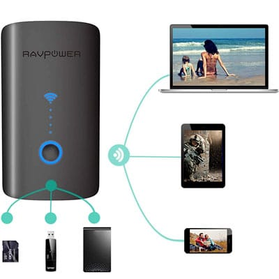 RavPower wireless travel router, a great gift for travelers.