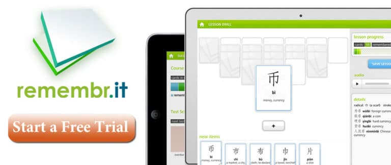 Use the Remembr.it flashcard system to learn to read Chinese