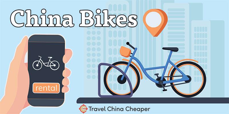 Rent a bike as a traveler using bike sharing China