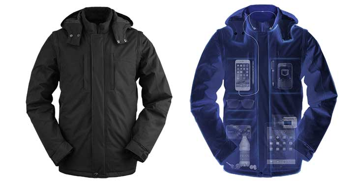 Travel jacket and vest for travelers