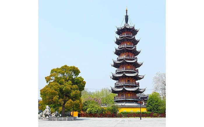 The Shanghai Longhua Temple in Shanghai, China