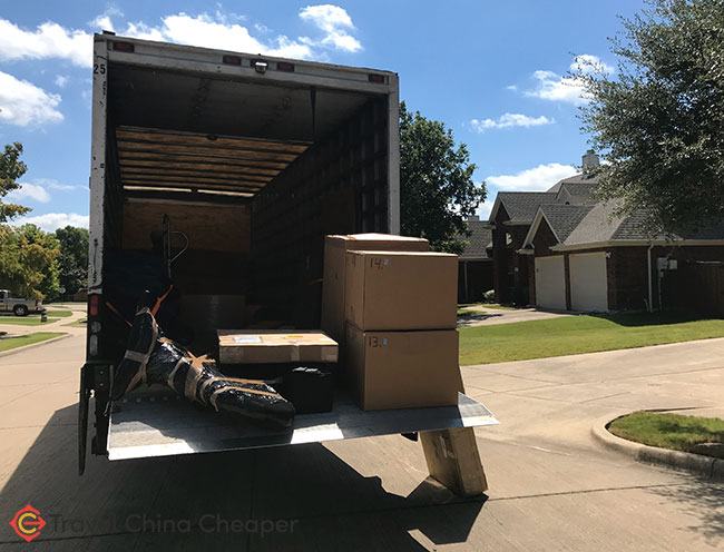 Shipping pickup by our international movers