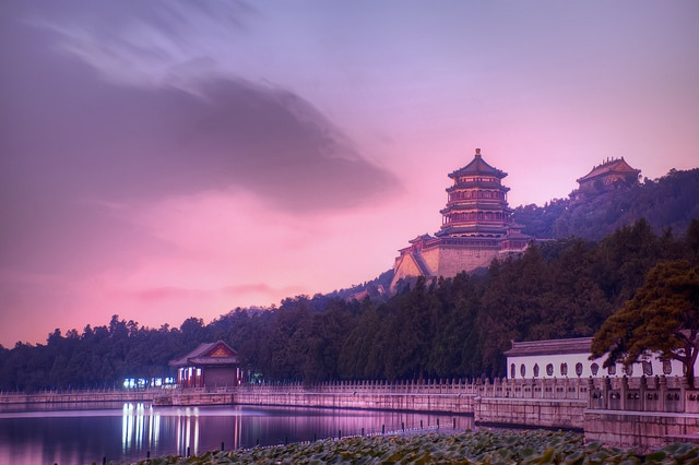 Summer Palace in Beijing at night, a must see sight in Beijing