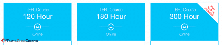 There are numerous TEFL course options for teaching English in China